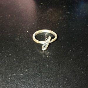 "James Avery ""J"" ring"